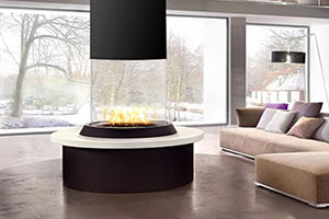 Acucraft Circular Glass Fireplace Thumbnail